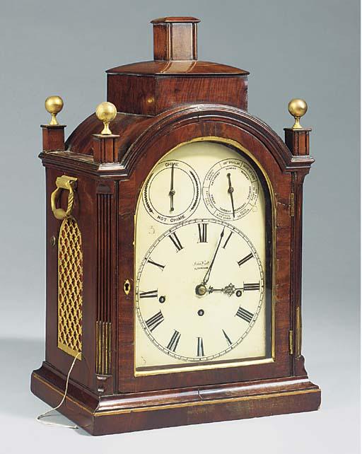 A musical bracket clock signed
