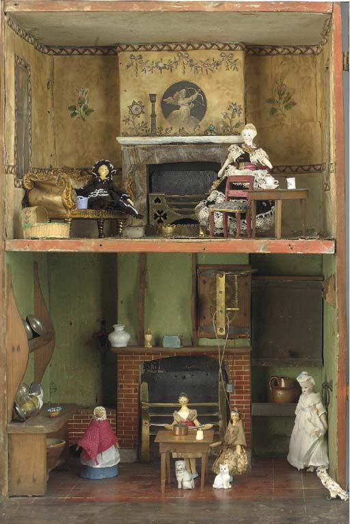 An early English box back doll