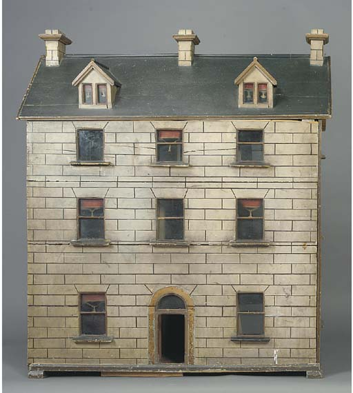 An Irish wood dolls' house
