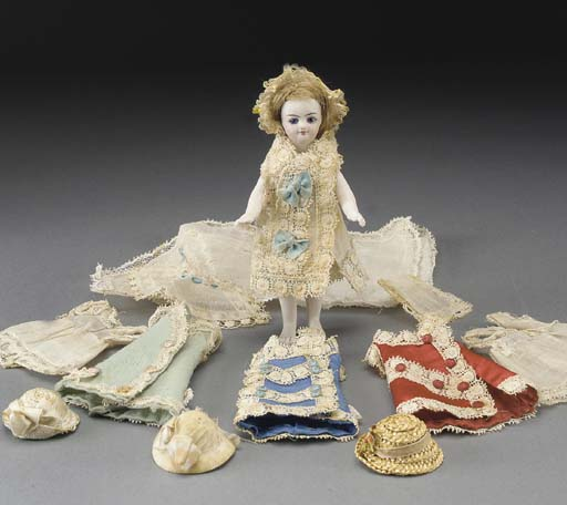 A French all-bisque dolls' hou