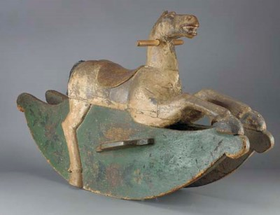 An early wood rocking horse