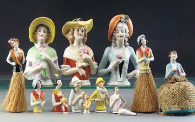 Flapper Pin Cushion dolls