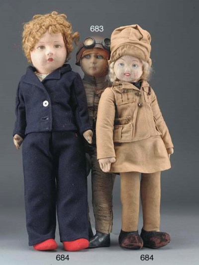 A Merrythought cloth doll