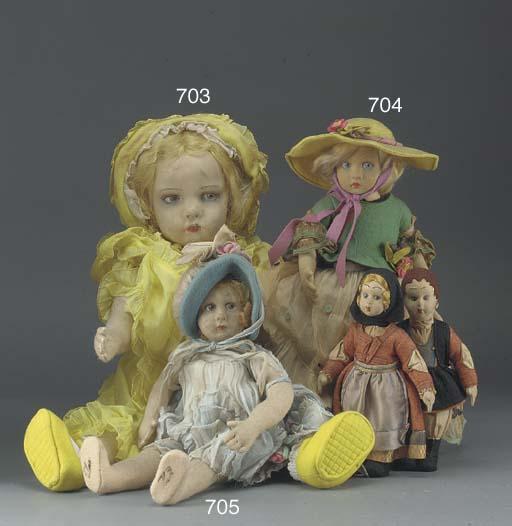 A Lenci pressed felt girl doll