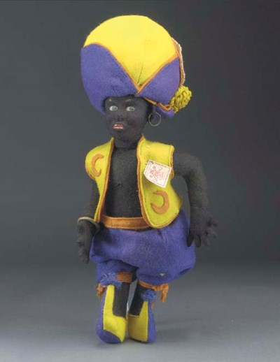 An unusual black felt characte
