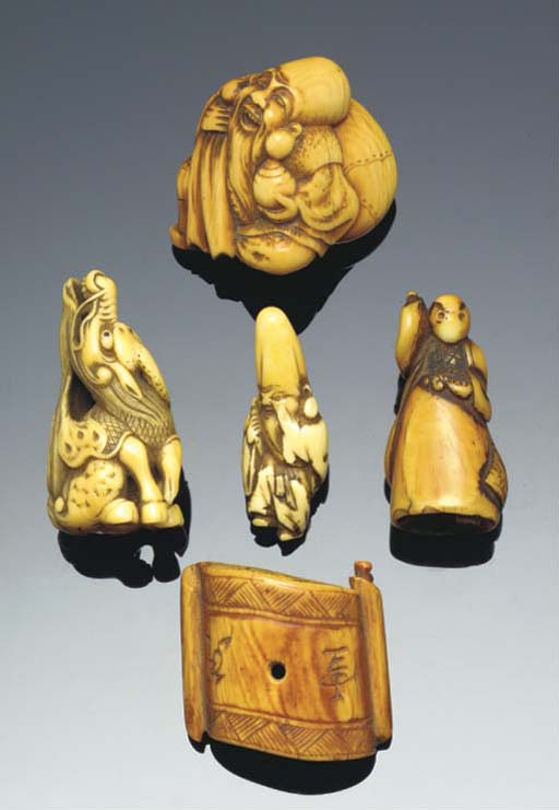 A Japanese ivory netsuke of Ho