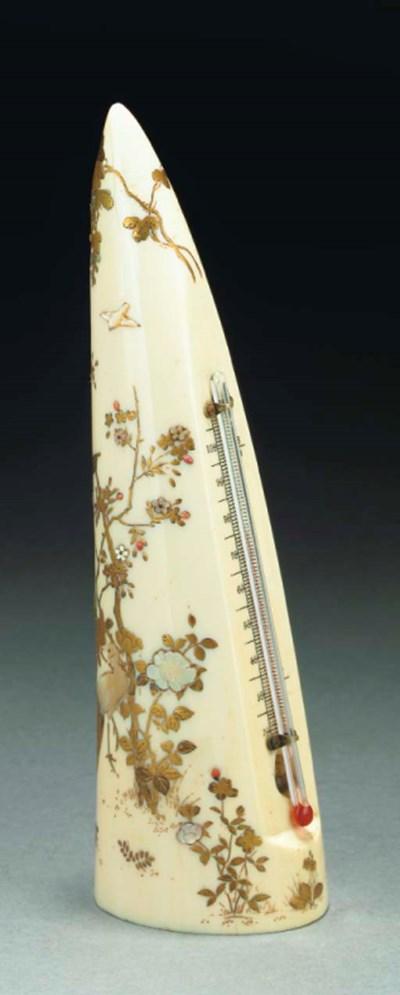 A Japanese shibyama style deco