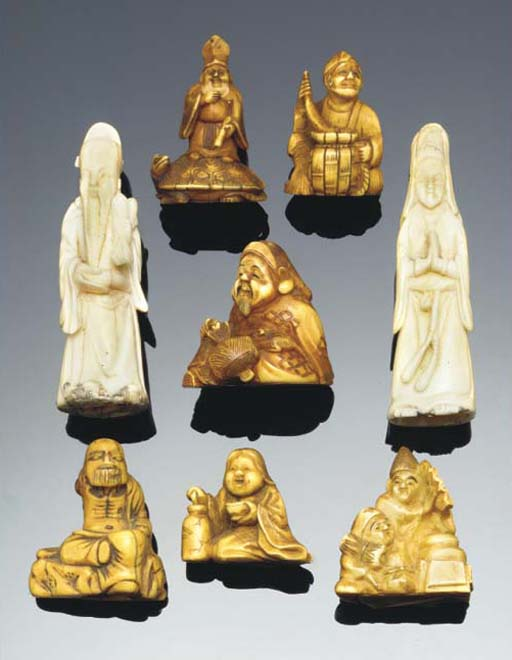 A Japanese ivory netsuke, 18th