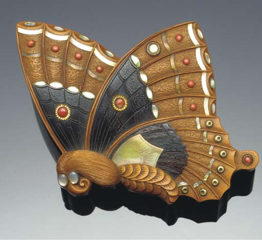 A Japanese embellished butterf