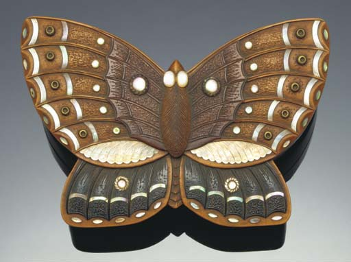A Japanese butterfly shaped wo