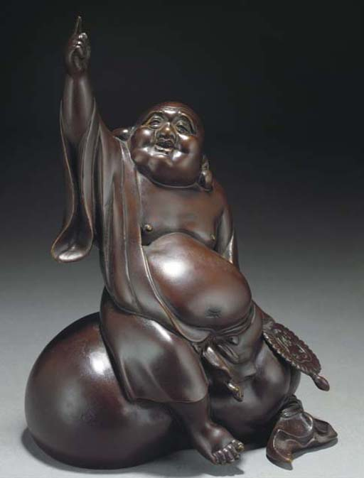 A Japanese bronze model of Hot
