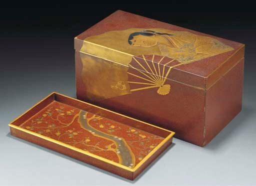 A Japanese rectangular lacquer