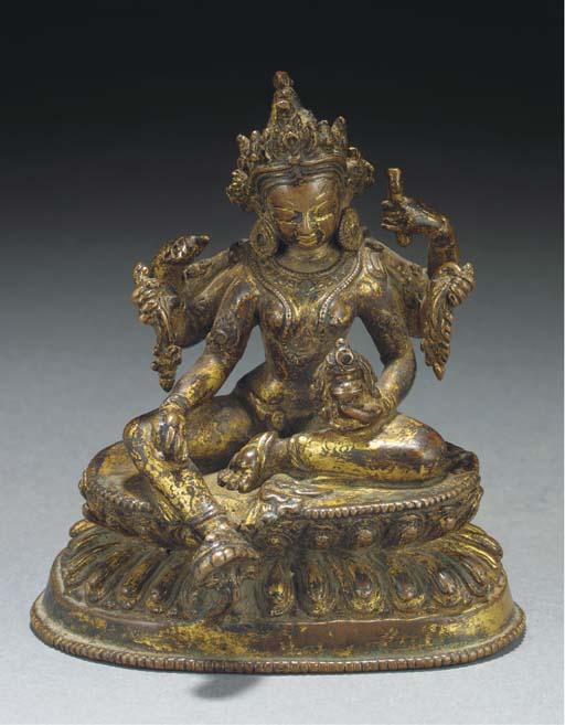 A Nepalese gilt copper model o