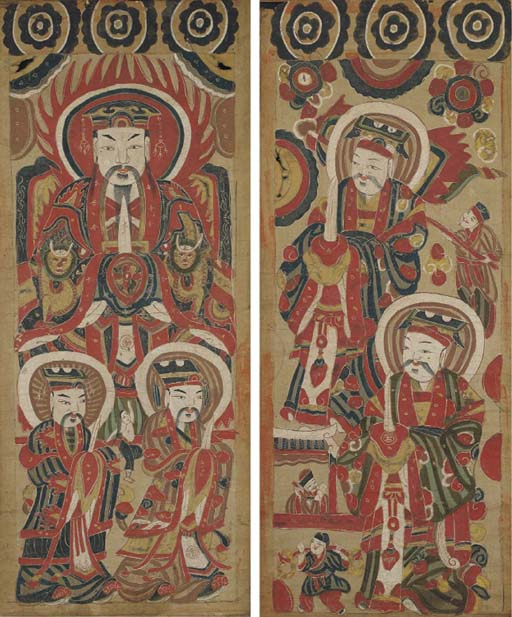Five Chinese paintings, 19th c