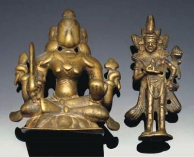 An Indian bronze model of a se