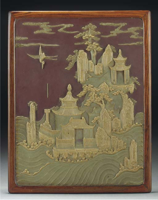 A Chinese Duan ink-stone carve