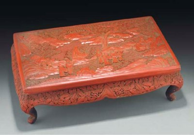 A Chinese cinnabar lacquer rec