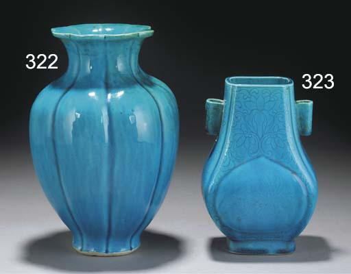 A Chinese turquoise glazed lob
