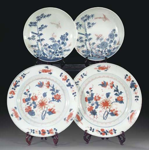 Two Chinese Imari dishes, 18th