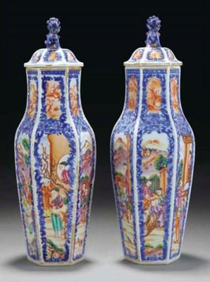A pair of Chinese mandarin pat
