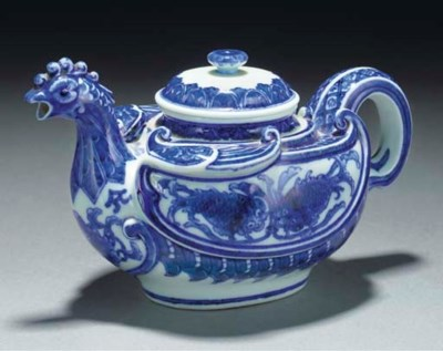 A Japanese blue and white teap