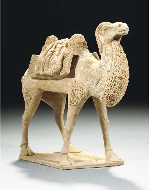 A Chinese buff pottery model o