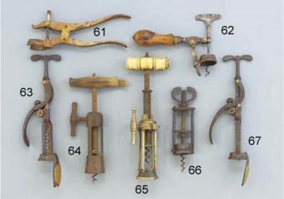 A 19TH CENTURY STEEL WING NUT
