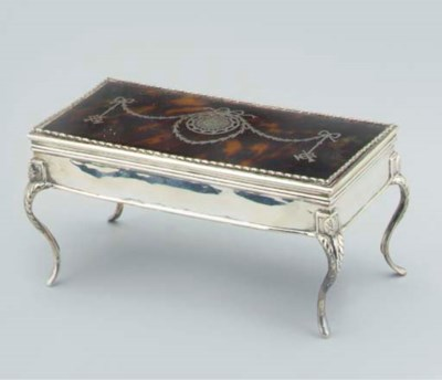 AN EDWARDIAN SILVER-MOUNTED TO