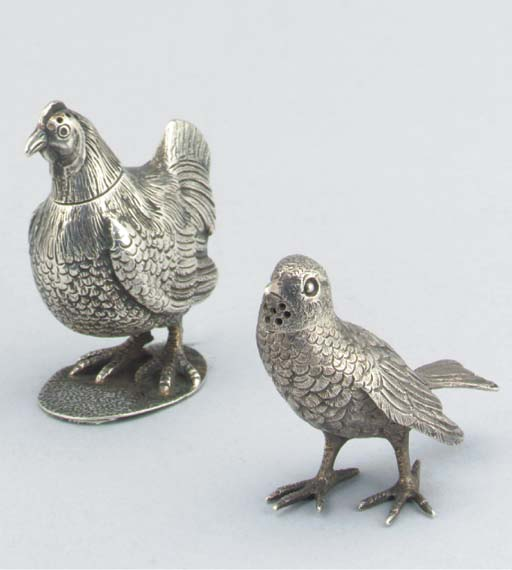 TWO VICTORIAN SILVER NOVELTY P