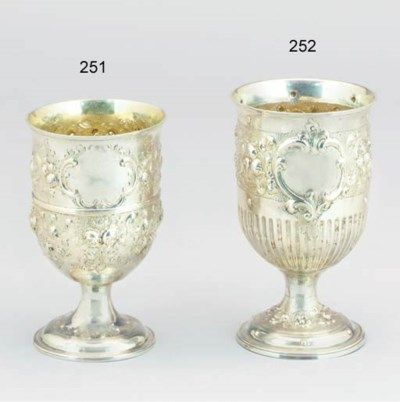 A GEORGE III SILVER GOBLET