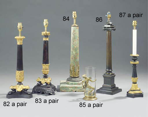 A LATE REGENCY BRONZE columnar
