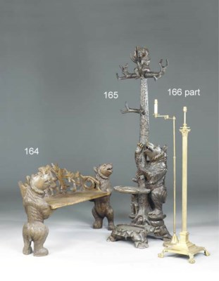 An English brass columnar stan