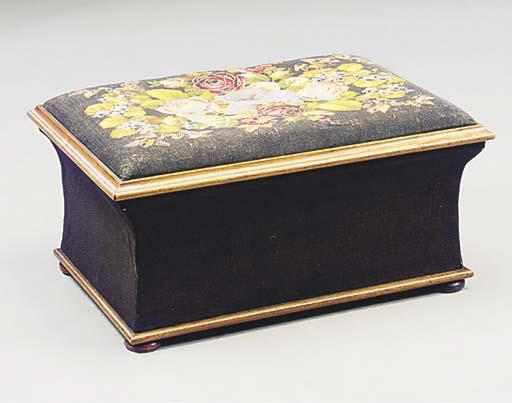 A Victorian needlework upholst