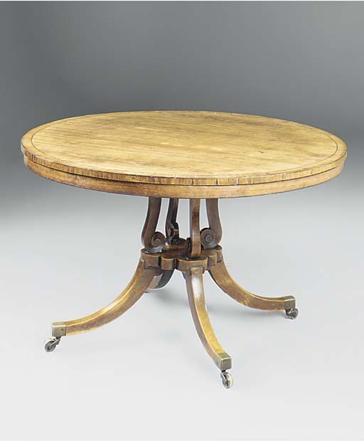 A Regency mahogany, birch and