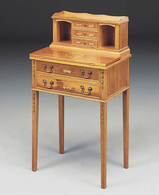 A YEW WOOD LADY'S WRITING DESK