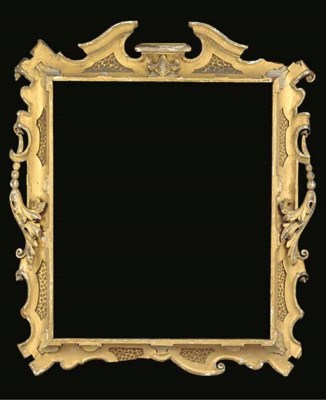 A Venetian carved and gilded f