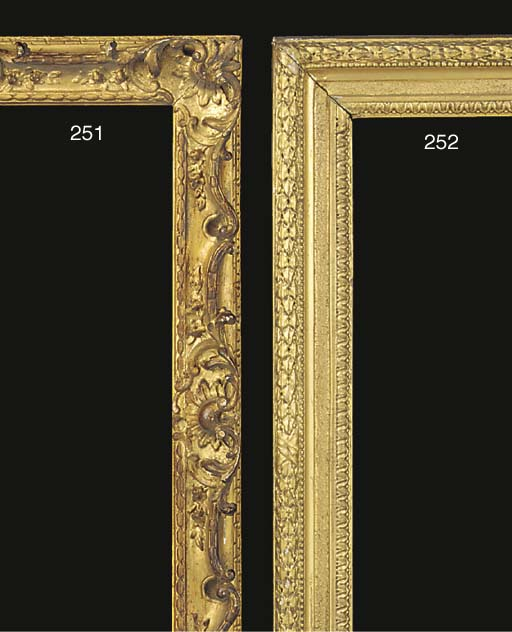 A carved and gilded frame