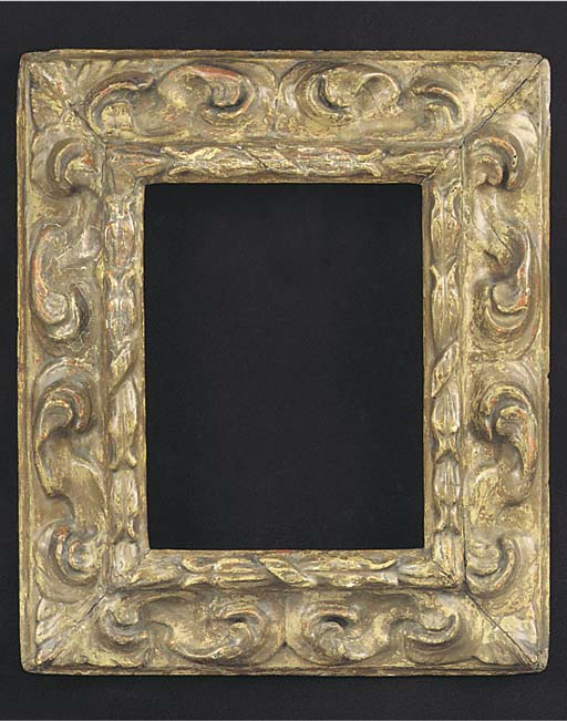 A Spanish carved wood frame