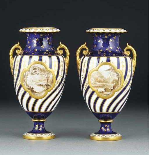 A pair of Royal Crown Derby va