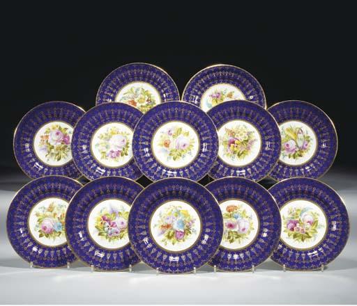 Twelve Cauldon plates
