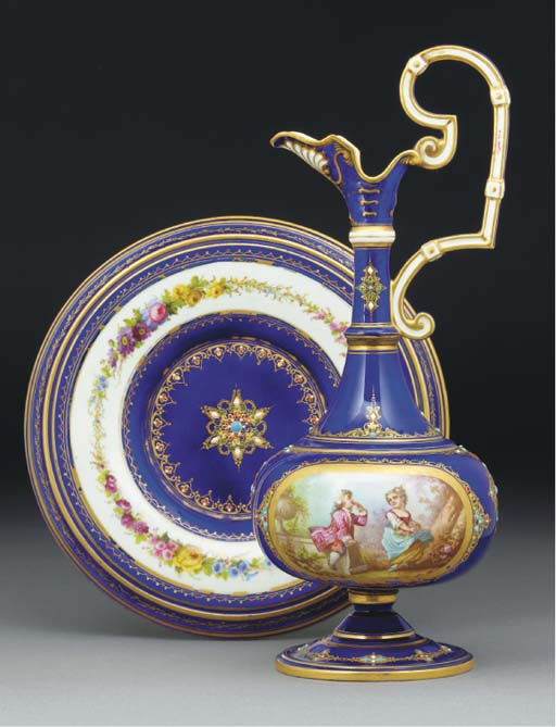 A Sevres-style 'jewelled' dark