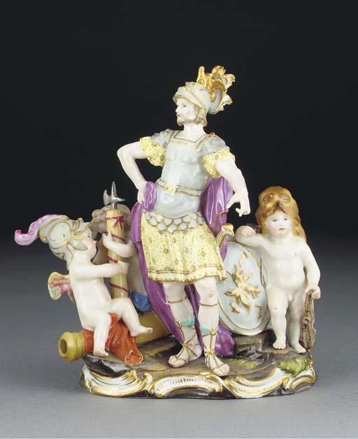 A Meissen allegorical group em