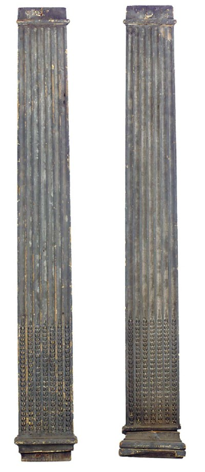 A PAIR OF GEORGE III CARVED AN