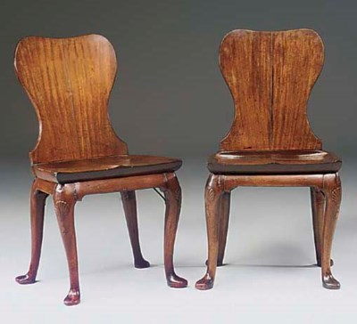A PAIR OF GEORGE II MAHOGANY H
