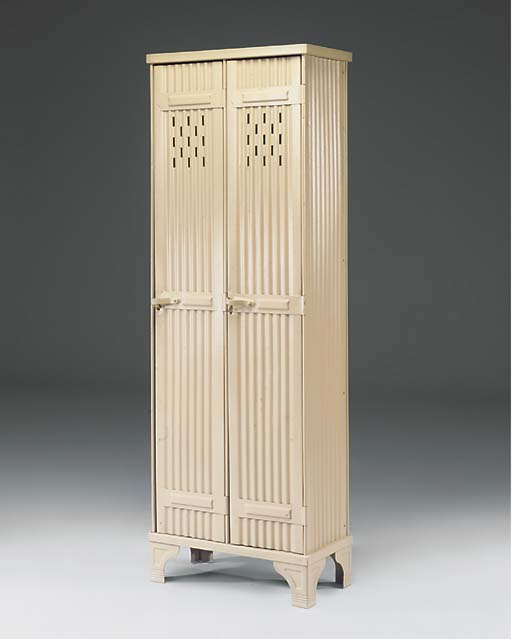 A PAINTED PRESSED STEEL CABINE