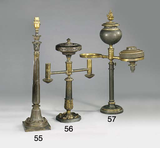 A REGENCY BRONZE AND LACQUERED