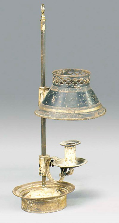 A DIRECTOIRE TOLE PEINTE LAMPE