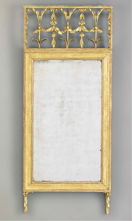 A SWEDISH GILTWOOD PIER MIRROR