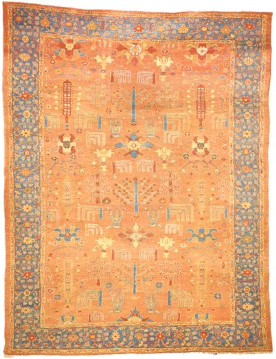 AN ANTIQUE ZIEGLER CARPET, SUL