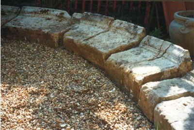 A GROUP OF COTSWOLD STONE POOL